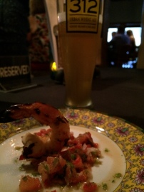 Grilled Fresh Water Prawn Paired with Goose Island 312 Urban Wheat Ale