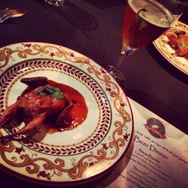 Oak Kissed Quail Paired with Goose Island Matilda