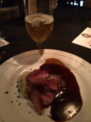 Orange Pollen Dusted Duck Breast paired with Goose Island Sofie