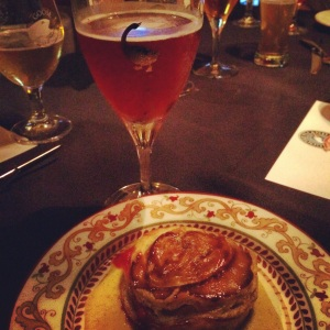 Raspberry Wellington paired with Goose Island Lolita